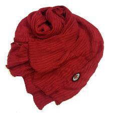 MILAN sciarpa stola rossa in cotone con stemma ricamato applicato da adulto