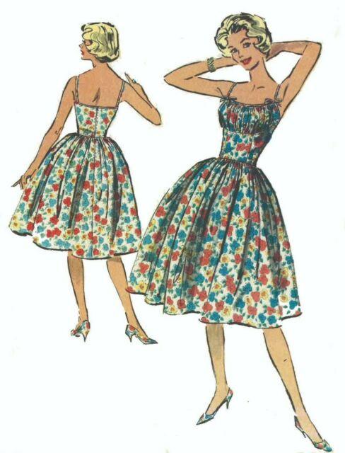 27014dccf47 Vintage 50s Sewing Pattern Rockabilly Marilyn Monroe Shoe String Dress Bust  33