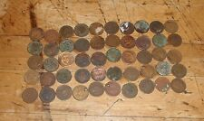 Lot of 50- Cull Indian Head Cents /Pennies (1800s-1900s) Old US Coins  1c