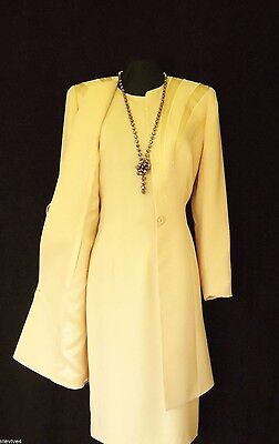 CONDICI Size 12 Peach Cream Ladies Designer Wedding Dress & Jacket Coat Outfit