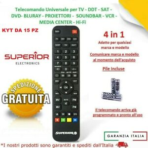 KYT DA 15 PEZZI DI TelecomandI UniversalI Compatibile Tv Lcd Led  DVBT DVD ECC..
