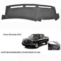 Chevy Silverado 1500 2500 Custom Smoke Dark-gray Dashboard Dash Cover 2014