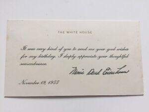 1955 President Dwight Eisenhower First Lady Mamie Birthday Wishes