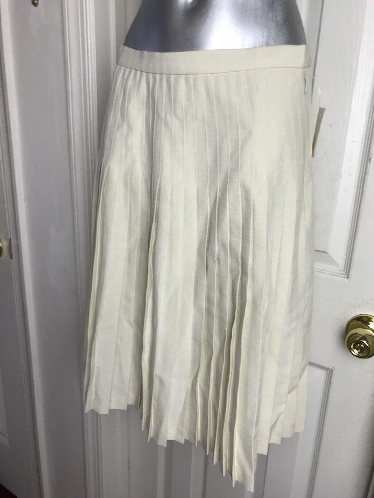 NWT  148 Phillipe Adec Pleated Skirt Size 10 - Beige Sand - Vintage