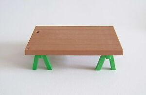 PLAYMOBIL (J232) EPOQUE 1900 - Table Tréteaux Etales Marché & Atelier Père Noel