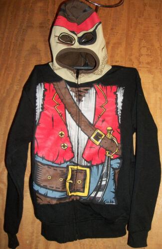 Costume Sweatshirt Hoodie Masked Skeleton Ninja Pirate Face Mask Zip Up