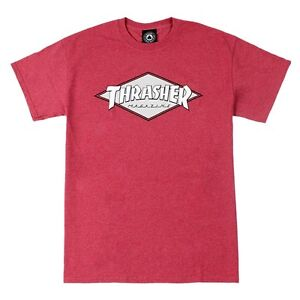 Thrasher-Magazine-OG-DIAMOND-LOGO-Skateboard-Shirt-CARDINAL-HEATHER-XL