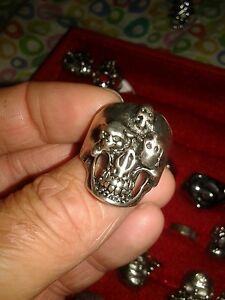 up-to-date styling forma elegante diventa nuovo Dettagli su ANELLO TESCHIO SKULl misura 24 trendy bellissimo anello con  teschi ring skull