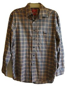 RM-Williams-Brown-Check-Shirt-Long-Sleeve-Small