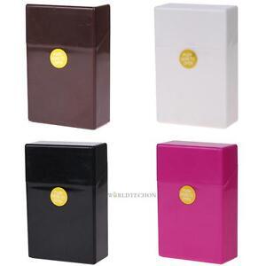 Plastic-Cigarette-Case-Box-Holder-Tobacco-20-Cigarettes-Pocket-King-Size-Cover