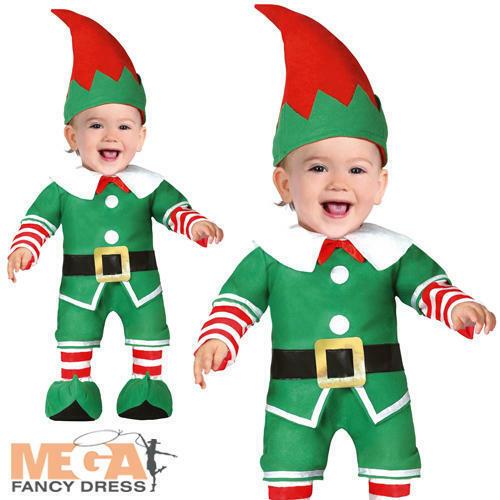 Baby elf Kids Fancy Dress Santas Little Helper Festif Noël Jouet Costume