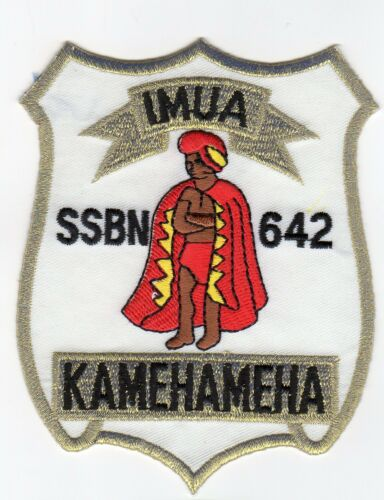 USS Kamehameha  SSBN 642-4 Inch Crest BC Patch Cat No C5212