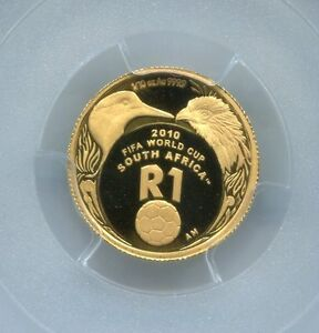PCGS-Secure-South-Africa-2010-R1-World-Cup-Pr69dcam-Gold-Coin-Free-Shipping