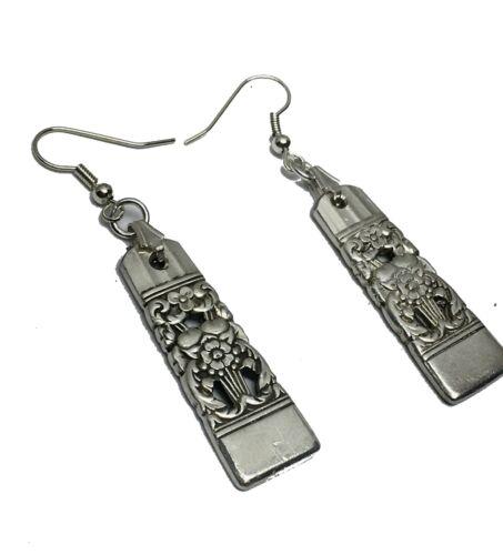 VINTAGE SPOON// FORK EARRINGS 1936 CORONATION Oneida Silverware Jewelry