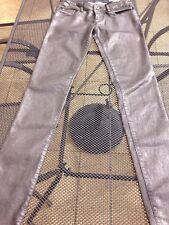 BNWT DIESEL Oil Slick Leather Look Skinny Jeans W25 L32