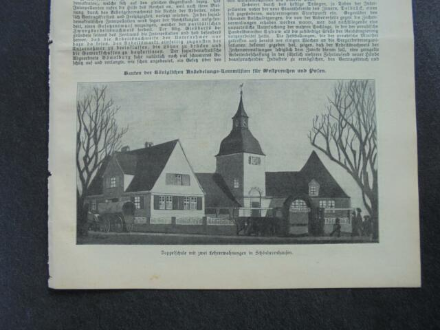 1909 Baugewerkszeitung 101 / Schönherrnhausen Posen