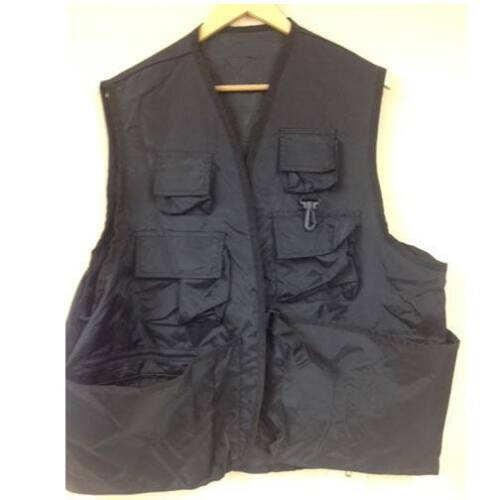 New Trophy XL River Steelhead Salmon Fly Fishing Vest Black Multi Pocket 5417