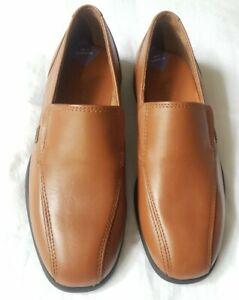 KICKERS-marron-en-cuir-clair-Garcons-Mocassins-Officielle-Enfants-Chaussures-Taille-UK-1-Eur-33
