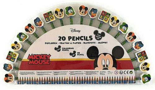 Disney Mickey Mouse 40tlg Kinder Mal Set Buntstifte HB Bleistifte Radiergummi