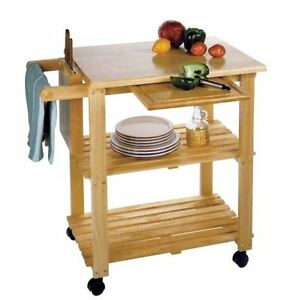 Image Is Loading Small Kitchen Cart Island Utility Solid Wood Prep