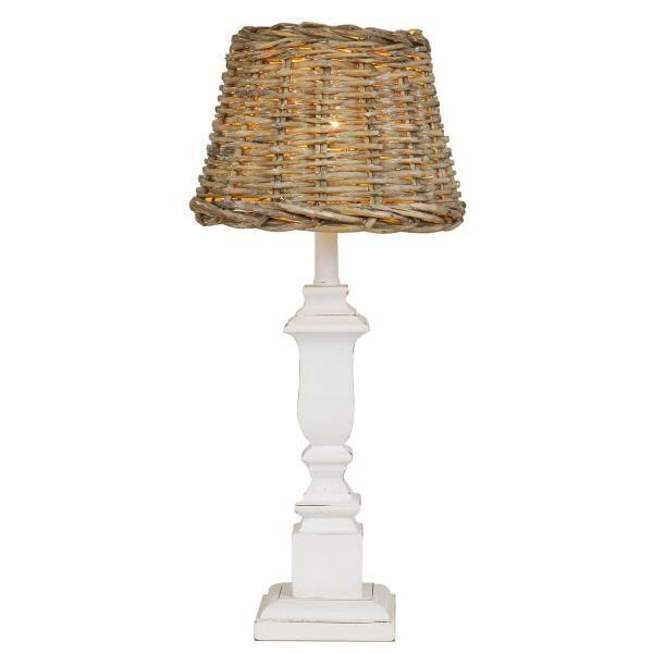 Vintage Lampenfuß weiß 12 x 11 x 41 cm  Clayre & Eef W4H0181 Vintage NEU
