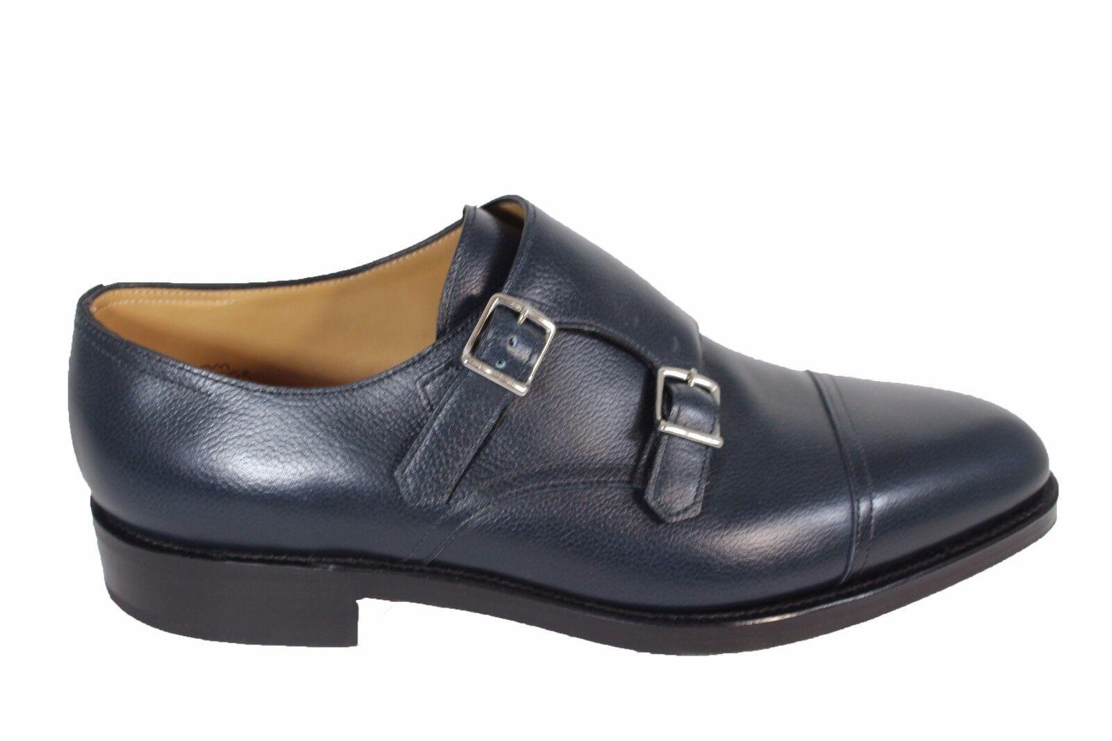 JOHN LOBB William leather monk strap scarpe eleganti in pelle con suola in cuoio