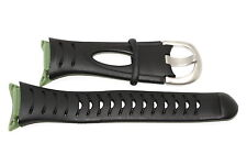 NIKE ACG ASCENT BLACK GREEN REPLACEMENT RUBBER WATCH BAND WAS005-001