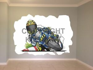 Huge-Koolart-Cartoon-Yamaha-V-Rossi-Moto-Gp-Wall-Sticker-Poster-Mural-3223