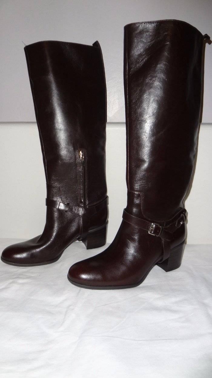 Enzo Angiolini Colston Knee High Riding Stiefel Braun Leder 6 210