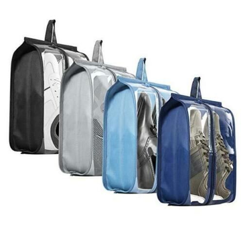 4PCS Zip Organizer Transparent Pouch Storage Portable Waterproof Travel Shoe Bag