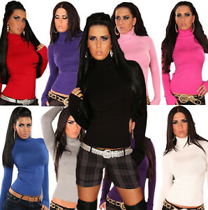 PULL-COL-ROULE-FEMME-FIN-UNI-TOP-SEXY-FASHION-T-S-M-36-38-COULEUR-AU-CHOIX