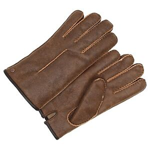 c5c129450e0 Details about New $175 M L XL Mens UGG Shearling Sheepskin Winter Gloves  Brown Bomber Leather