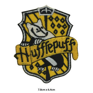 Harry Potter Hufflepuff House Embroidered Patch Iron on Sew On Badge