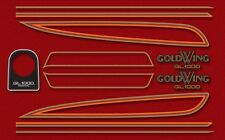 1975-76 Honda GL1000 Gold Wing - red 9 piece decal set