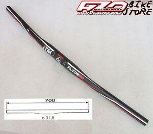 Manubrio-piega-ITM-Alcor-80-FLAT-diritta-NERA-per-bici-MTB-Sport-700mm