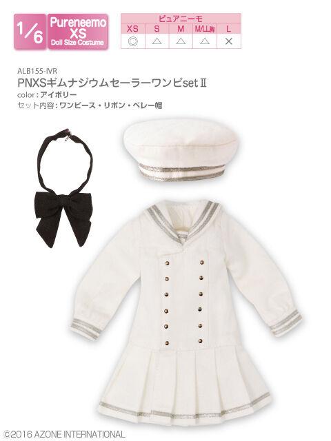 Azone Pureneemo PNXS Gymnasium Sailor Set de una pieza II Ivory Blythe Obitsu