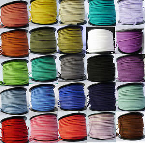 Leather-Jewelry-Faux-Suede-Cords-Making-Beading-Thread-flat-DIY-27-COLORS