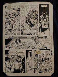DC Comics The Warlord Issue #88 Page 14 Original Art Dan Jurgens Rich Buckler