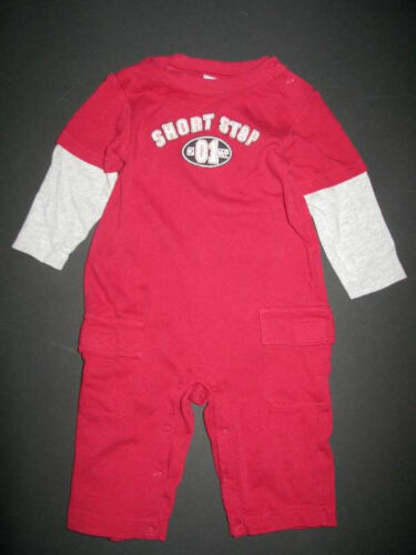 Vintage Gymboree boys knit 1pc pants romper lounge play gymmies outfit 0 3 6 mo