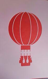 Details Zu 1228 Schablonen Heißluftballon Wandtattoo Vintage Stanzschablonen Shabby Stencil