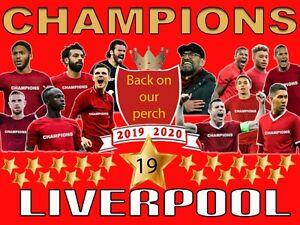 Liverpool Champions 2020 Team Flag 4ft X 3ft | eBay