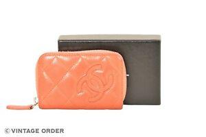 CHANEL-CC-Logo-Orange-Caviarskin-Coin-Purse-Wallet-YF02183