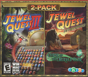 Details about JEWEL QUEST III 3 & MYSTERIES Curse of the Emerald Tear - 2x  PC/MAC Games - NEW!