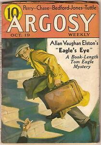 Pulp Magazine ARGOSY Oct 19 1935 BEDFORD-JONES Pirates ARMY AIRMAN COMIC STRIP