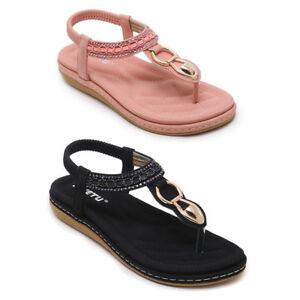 40c738410 SIKETU Women Bohemia Comfort Soft Outsole Flat Flip flop Sandal Pump ...