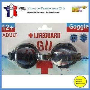 Lunettes de natation de sauveteur pour adulte noire