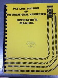 international td15c dozer crawler operator operation maintenance rh ebay com TD15C Dozer Cylinder Angle TD15B Dozer
