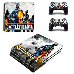 Battlefield 1 p-0281 Sony Ps4 Pro Console And Controller Skins Decal-