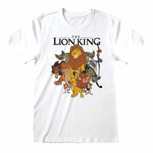 Men's Lion King Original Characters Group White T-Shirt - Unisex Disney Tee