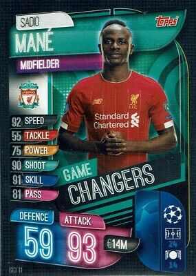Topps Match Attax Extra Champions League 19//20 le 2G Edition Limitée Sadio Mane